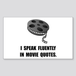 Speak Movie Quotes Sticker (Rectangle 10 pk)