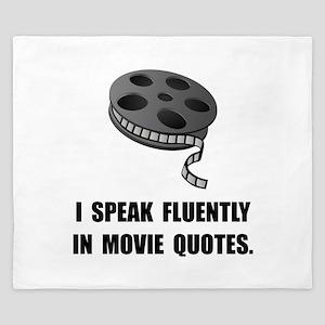 Speak Movie Quotes King Duvet