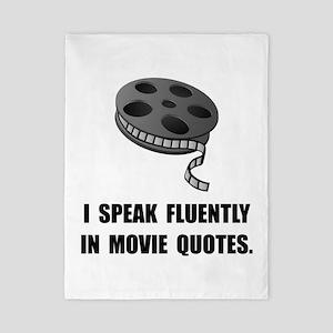 Speak Movie Quotes Twin Duvet