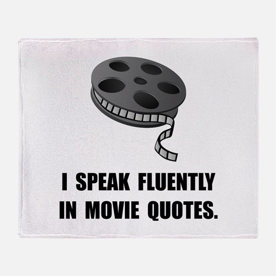 Speak Movie Quotes Throw Blanket