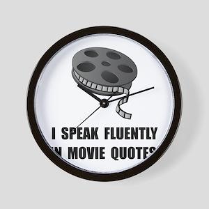 Speak Movie Quotes Wall Clock