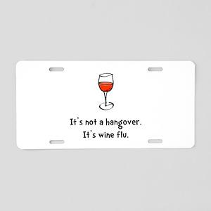 Wine Flu Aluminum License Plate