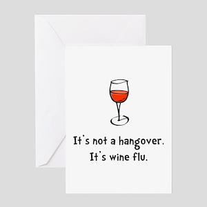Wine Flu Greeting Card