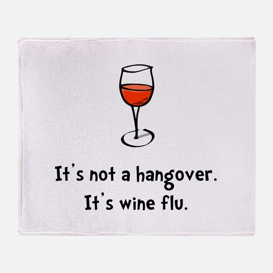 Wine Flu Throw Blanket