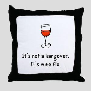 Wine Flu Throw Pillow