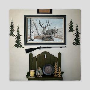 Cabin wall Queen Duvet