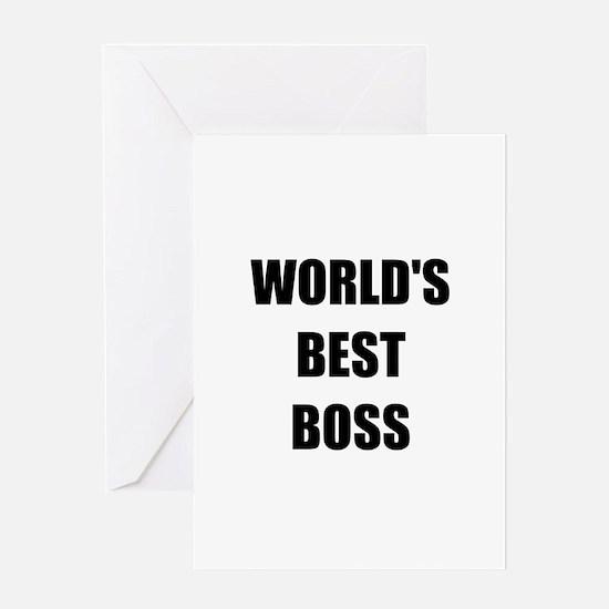 Worlds Best Boss Greeting Card