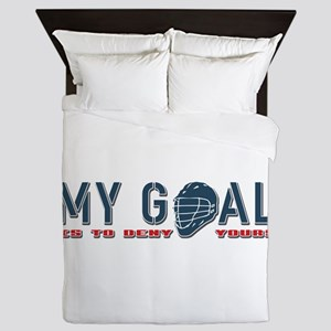 My Goal, Lacrosse Goalie Queen Duvet