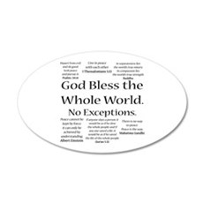 God Bless Wall Decal