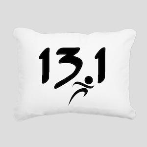 13.1 half-marathon Rectangular Canvas Pillow