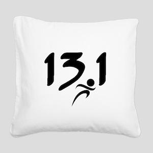 13.1 half-marathon Square Canvas Pillow