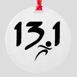 13.1 half-marathon Round Ornament