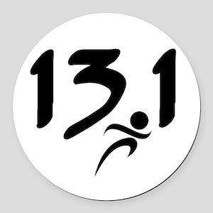 13.1 half-marathon Round Car Magnet