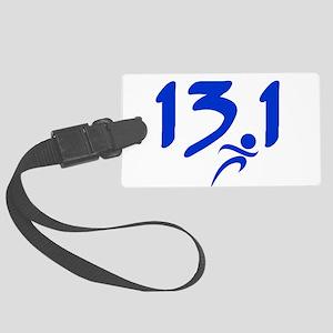 Blue 13.1 half-marathon Large Luggage Tag