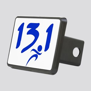Blue 13.1 half-marathon Rectangular Hitch Cover