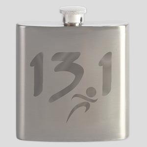Silver 13.1 half-marathon Flask