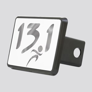 Silver 13.1 half-marathon Rectangular Hitch Cover