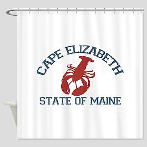Cape Elizabeth ME - Lobster Design. Shower Curtain