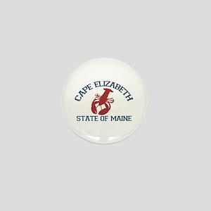 Cape Elizabeth ME - Lobster Design. Mini Button