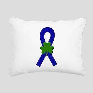 Blue Shamrock ribbon Rectangular Canvas Pillow