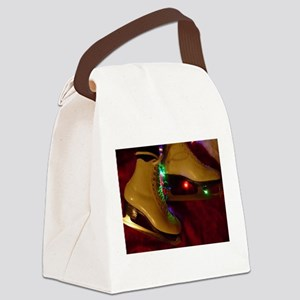 Ice Skater Christmas Canvas Lunch Bag