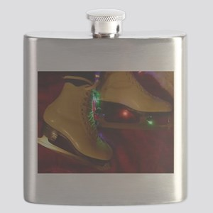 Ice Skater Christmas Flask
