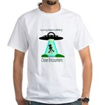 Cycling Hazards - Close encounters White T-Shirt
