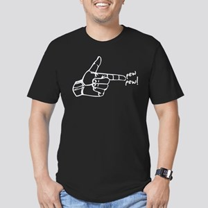 Imagination Hand Gun Pew Pew Men's Fitted T-Shirt