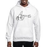 Imagination Hand Gun Pew Pew Hooded Sweatshirt