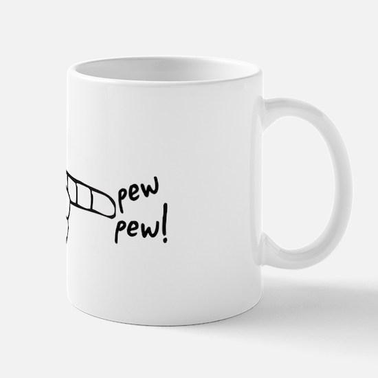 Imagination Hand Gun Pew Pew Mug