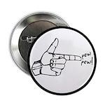 """Imagination Hand Gun Pew Pew 2.25"""" Button"""