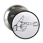 """Imagination Hand Gun Pew Pew 2.25"""" Button (10"""
