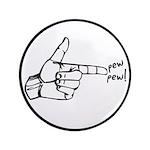 """Imagination Hand Gun Pew Pew 3.5"""" Button"""