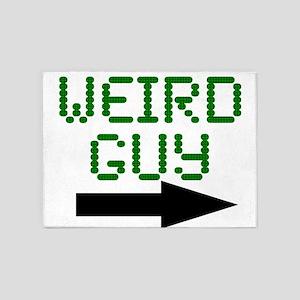 Weird Guy 5'x7'Area Rug