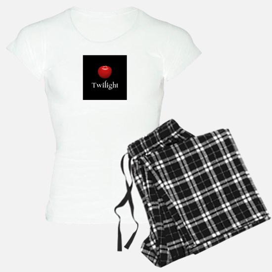 Twilight Lettering with Red Apple Pajamas