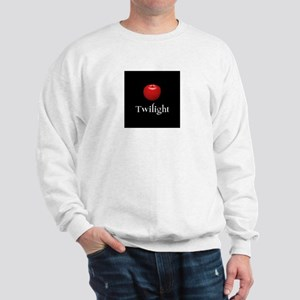 Twilight Lettering with Red Apple Sweatshirt