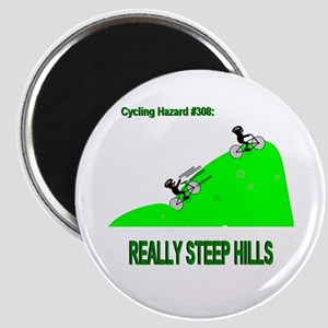 Cycling Hazards - Really Steep Hills Magnet