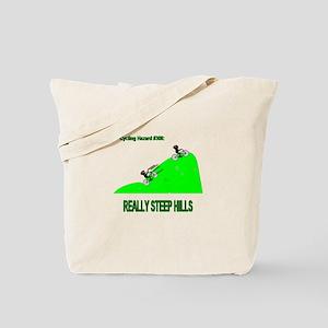 Cycling Hazards - Really Steep Hills Tote Bag