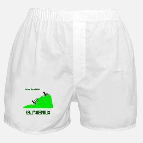 Cycling Hazards - Really Steep Hills Boxer Shorts
