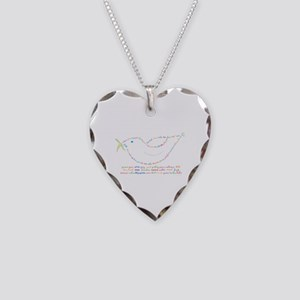 Peace Dove Necklace Heart Charm
