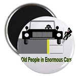 Cycling Hazards - Oldsters in big cars Magnet