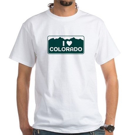 CO - Colorado White T-Shirt