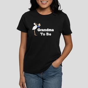 Stork Grandma To Be Women's Dark T-Shirt