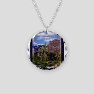 Sabino Canyon Necklace Circle Charm