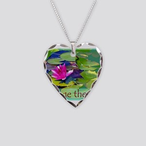 Massage Therapist / Waterlily Necklace Heart Charm