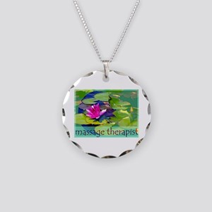 Massage Therapist / Waterlily Necklace Circle Char