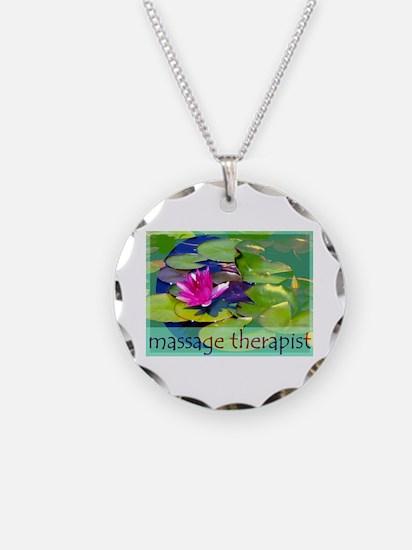 Massage Therapist / Waterlily Necklace