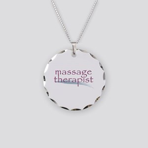 Massage Therapist Necklace Circle Charm