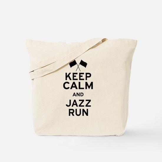 Keep Calm and Jazz Run Tote Bag