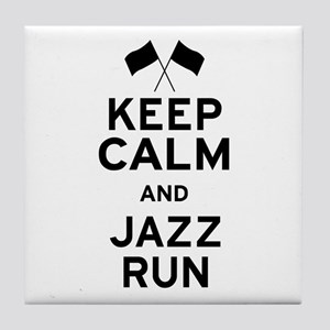 Keep Calm and Jazz Run Tile Coaster